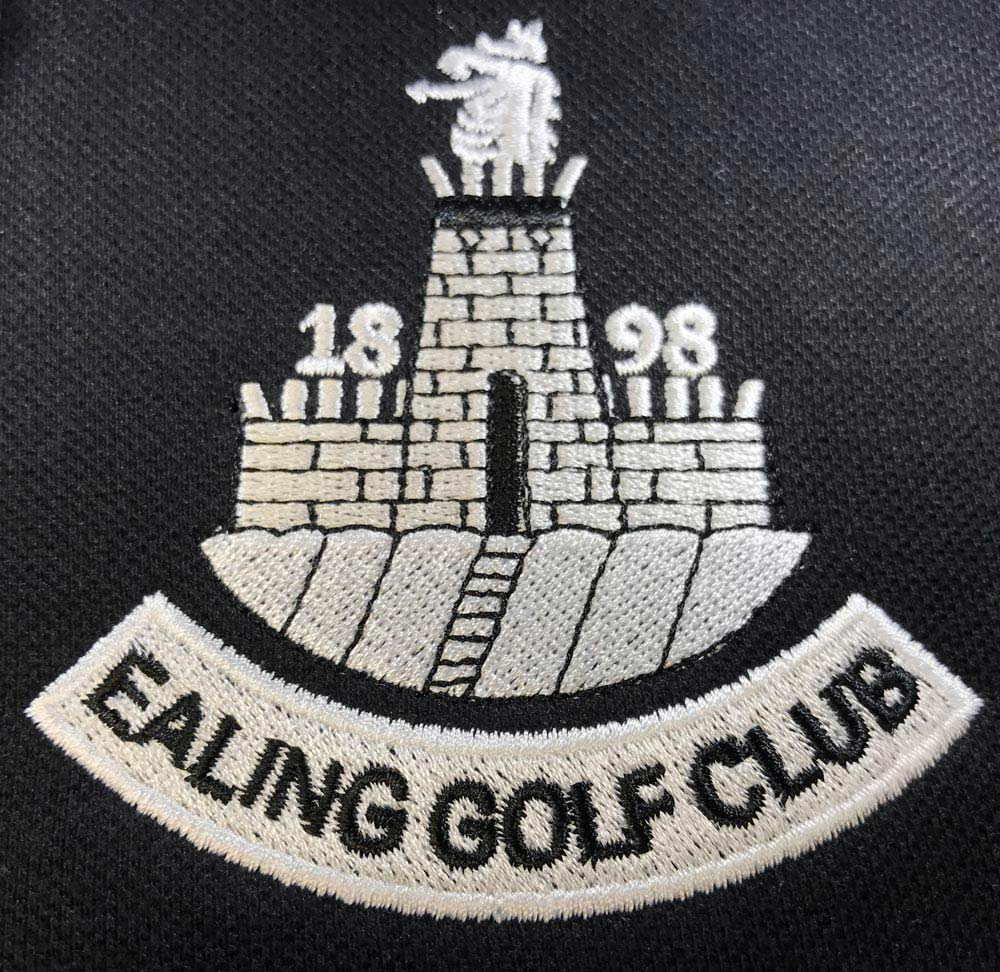 Embroidered polo shirts for Ealing Golf Club