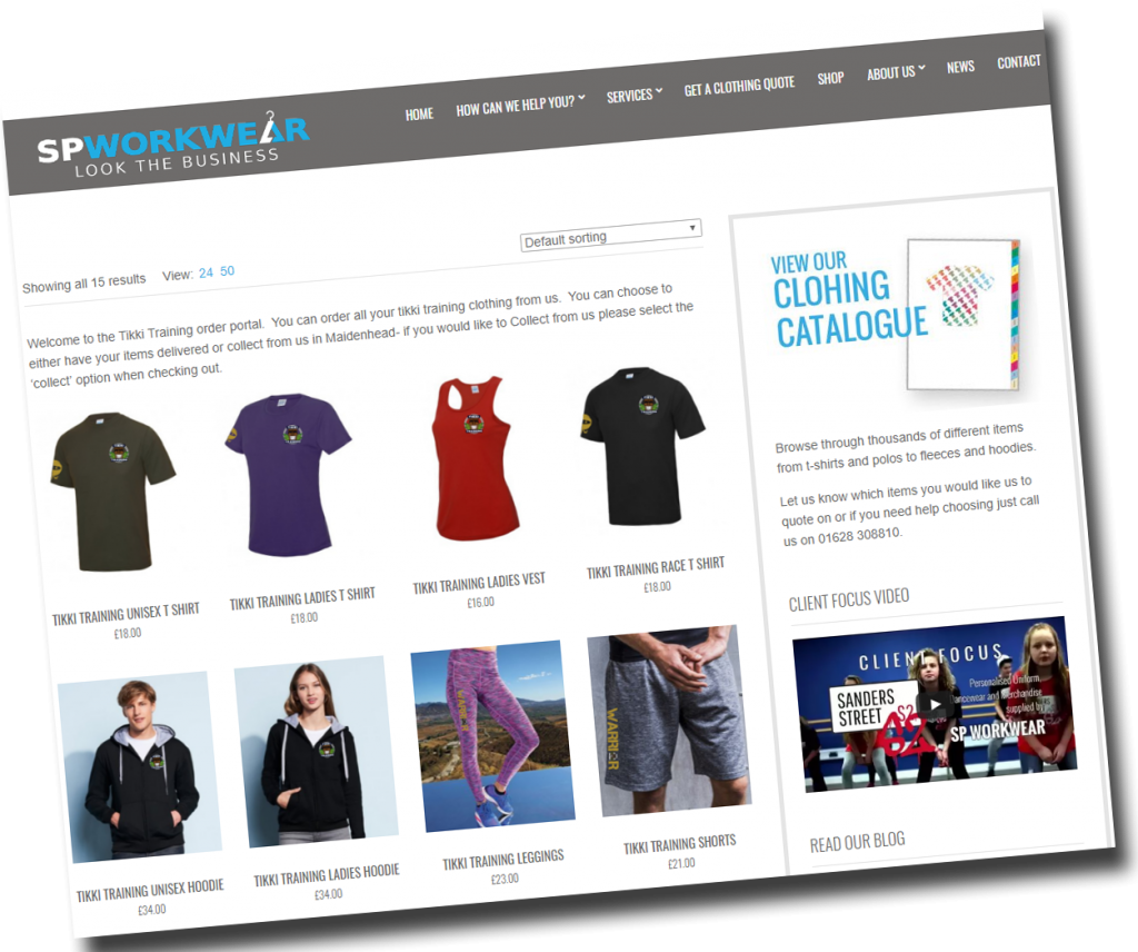 Online ordering portals