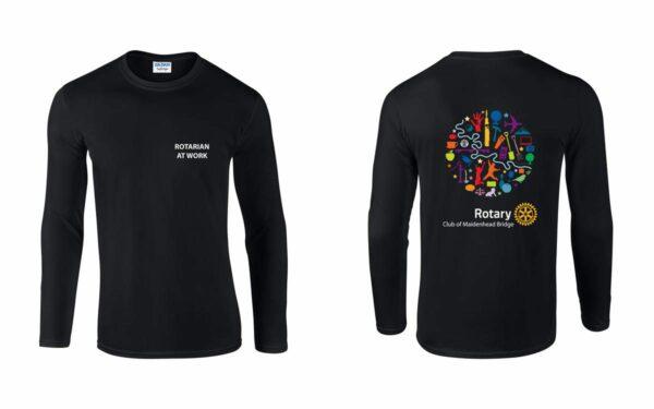Mens Long Sleeve T-Shirt - Maidenhead Bridge Rotary