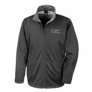Right At Home Mens Soft Shell Jacket – Black