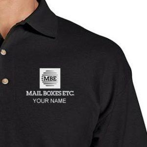 Mailboxes Etc. MBE Black Polo Shirt
