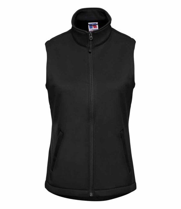 Russell Ladies Womens Plain BLACK Fleece Jacket NO LOGO