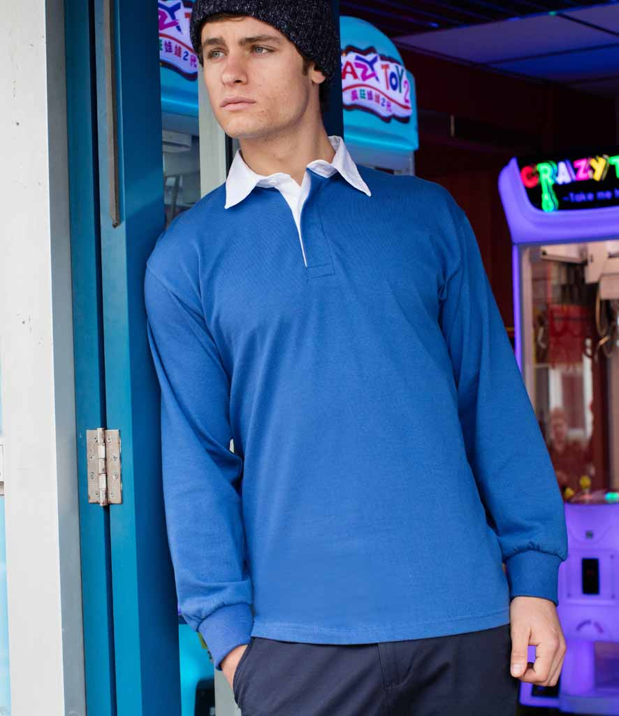 5b5c5cc3752 Front Row Long Sleeve Classic Rugby Shirt - FR100 - SP Workwear