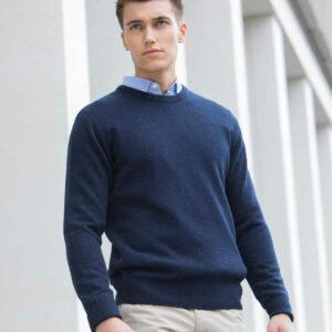 Henbury Lambswool Crew Neck Sweater – H735