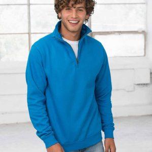AWDis Sophomore Zip Neck Sweatshirt – JH046