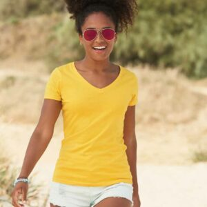 Fruit Of The Loom Lady Fit Value V Neck T-Shirt – SS702