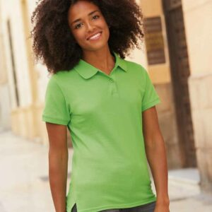 Fruit Of The Loom Ladies Premium Cotton Pique Polo Shirt – SS89