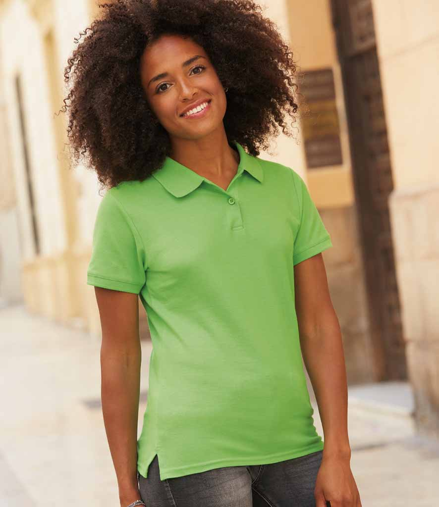Fruit Of The Loom Ladies Premium Cotton Pique Polo Shirt – SS89