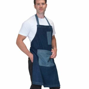 Dennys Heavyweight Denim Bib Pocket Apron – DE131