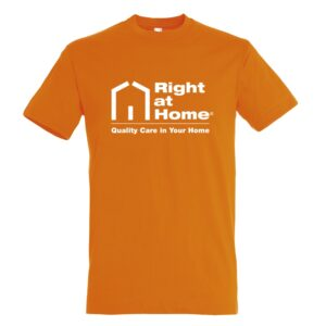 Right At Home Promotional T-Shirt – Orange
