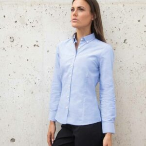 Henbury Ladies Modern Long Sleeve Regular Fit Oxford Shirt – H513R