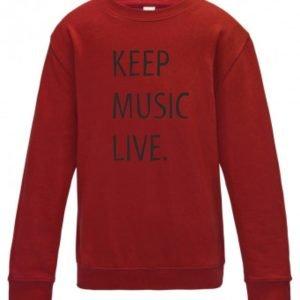 Concertini Keep Music Live Adult Sweatshirt