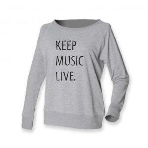 Concertini Keep Music Live Ladies Slounge Sweatshirt