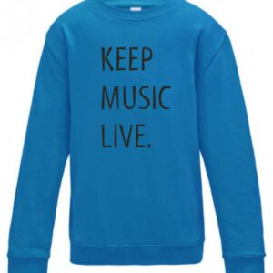 Concertini Keep Music Live Kids Sweatshirt