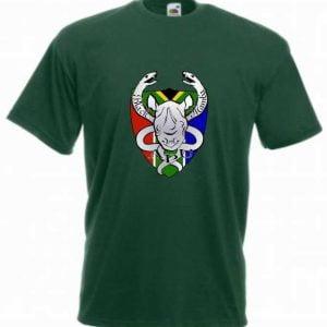Black Mambas SS6 T-Shirt - Bottle Green