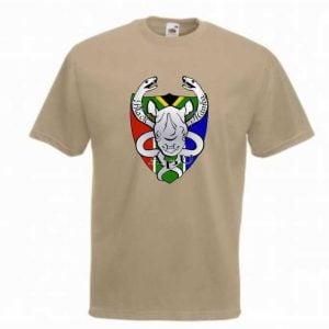 Black Mambas SS6 T-Shirt - Khaki