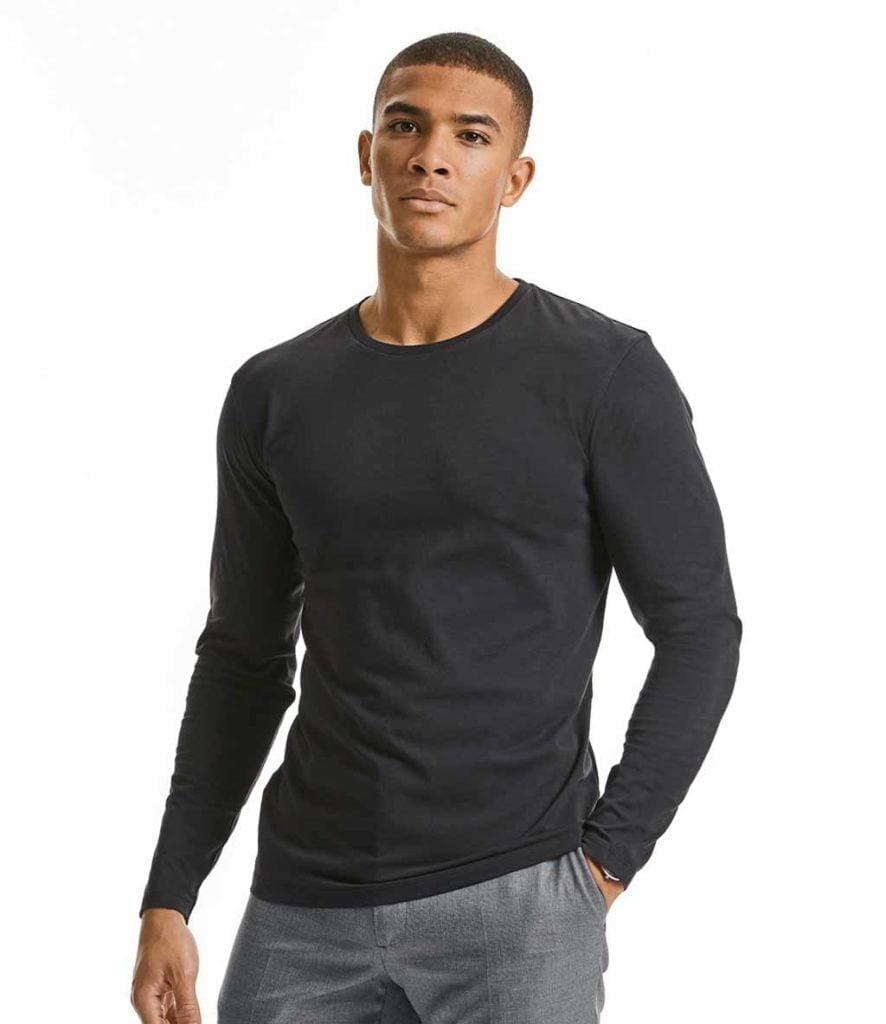 Russell Pure Organic Long Sleeve T-Shirt - 100M