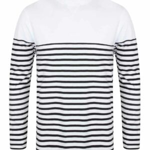 Front Row Long Sleeve Breton Striped T Shirt – FR134