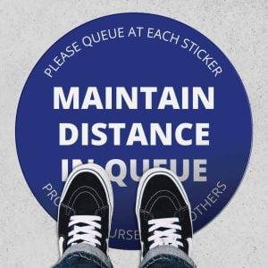 Temporary Floor Stickers – Social Distancing