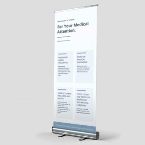Roller Banner – Health Advice