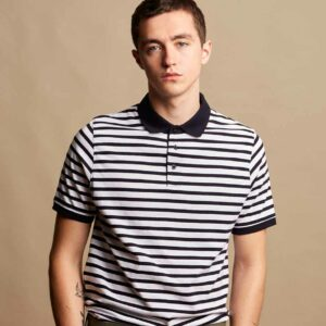 Front Row Striped Jersey Polo – FR230