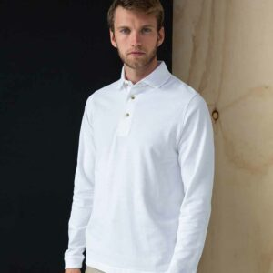 Henbury Classic Long Sleeve Polo – H105