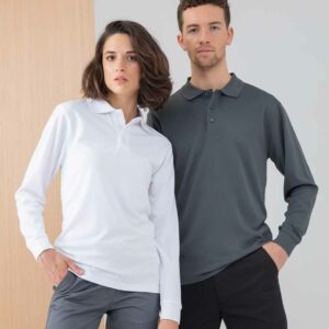 Henbury Unisex Long Sleeve Coolplus Polo – H478