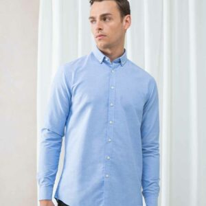 Henbury Modern Long Sleeve Regular Fit Oxford Shirt – H512R