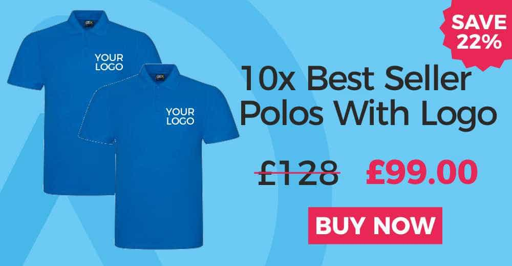 10x Embroidered Polo Shirt Offer