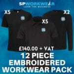 12pc Embroidered Workwear Pack