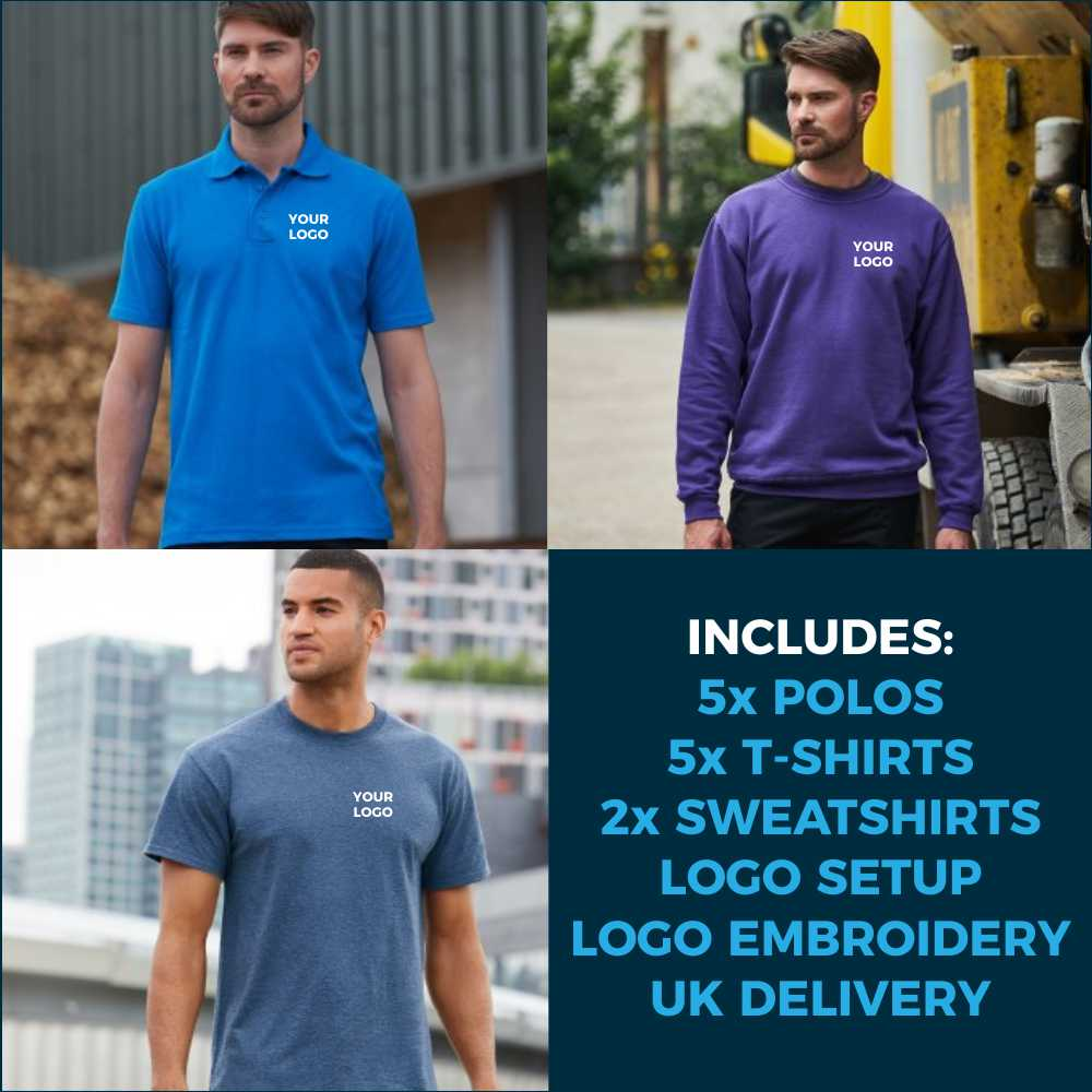 12pc Embroidered Workwear Package