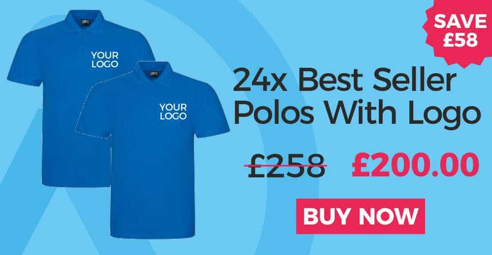 24x Embroidered Polo Shirt Deal