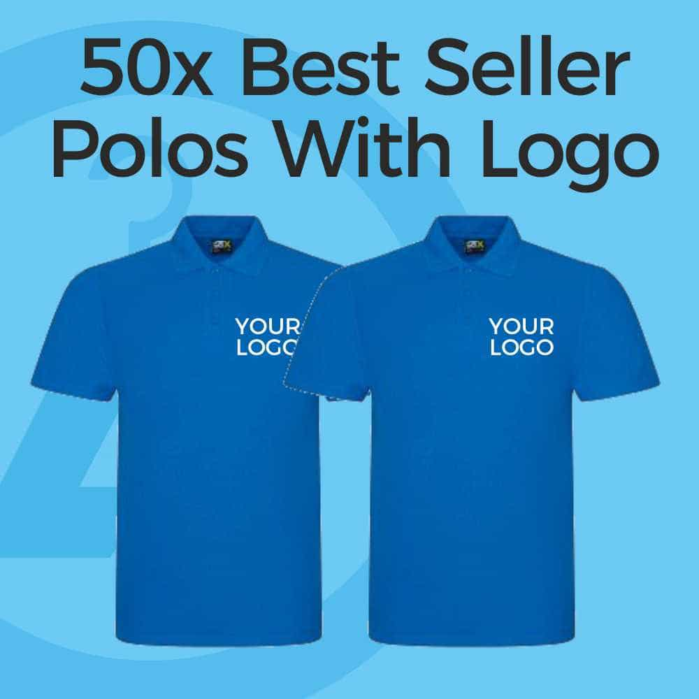 50x Embroidered Polo Shirt Deal
