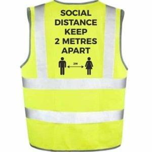 Social Distancing Hi Vis Vest