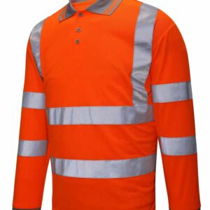 Lode Hi Vis Long Sleeve Polo – HVS01-PLS