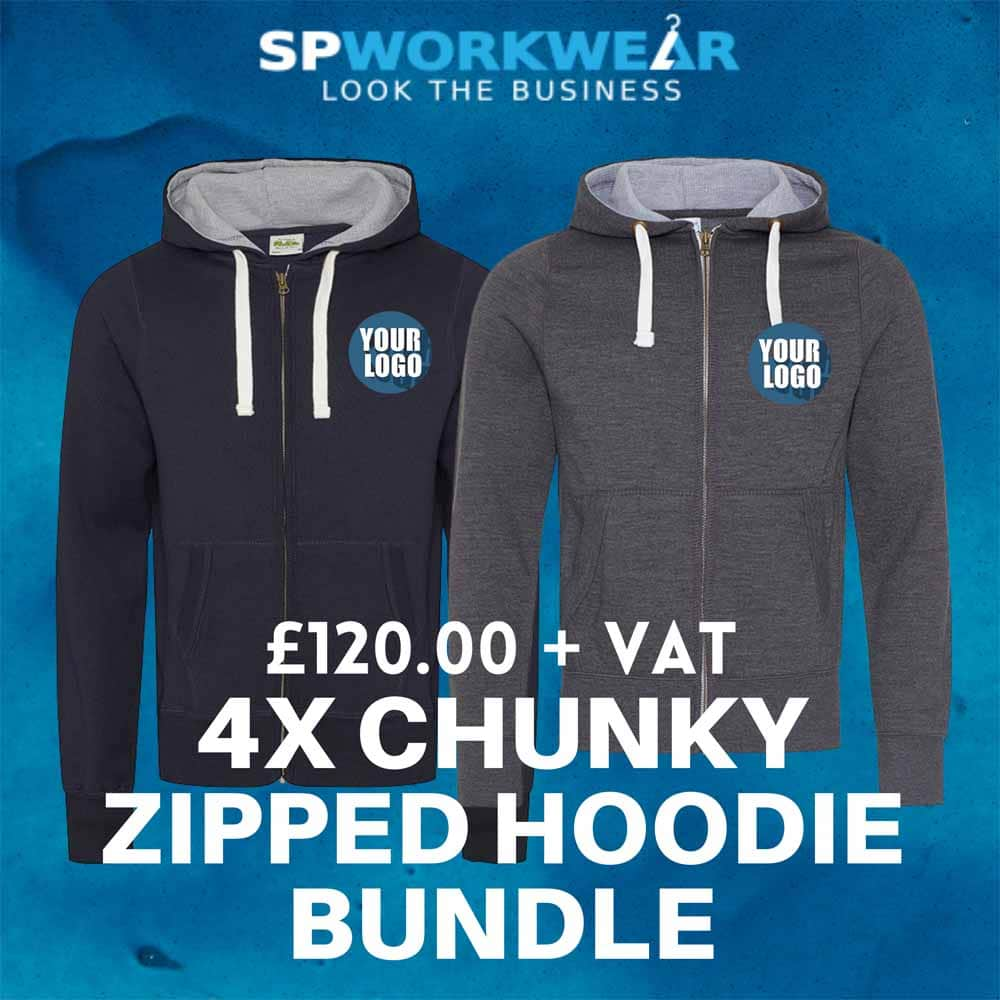 4 Chunky Zipped Hoodie Bundle