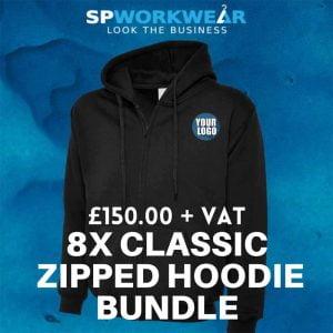 8 Classic Zipped Hoodie Bundle