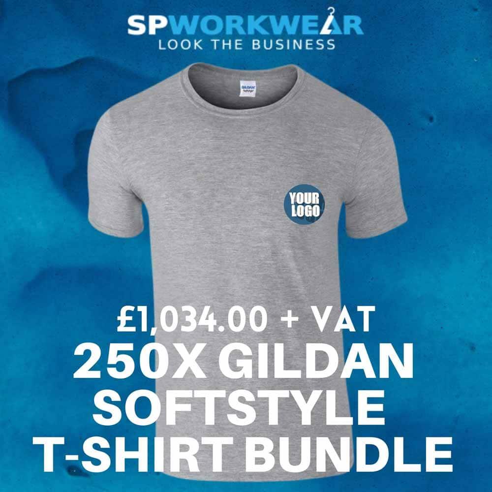 250x Gildan T-Shirts