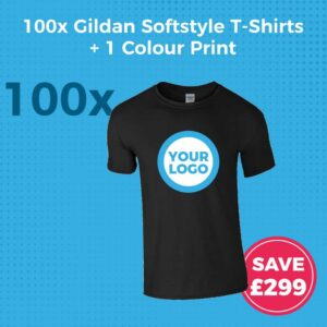 GD01 100pc Gildan Softstyle Screen Printed T-Shirt Deal - Product Image