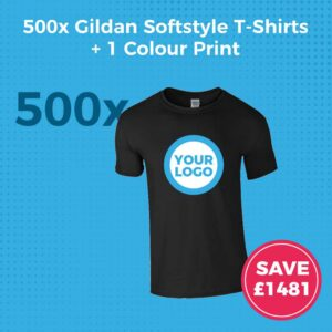 GD01 500pc Gildan Softstyle Screen Printed T-Shirt Deal - Product Image