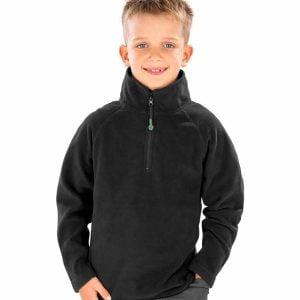 RS905B Result Genuine Recycled Kids Zip Neck Micro Fleece