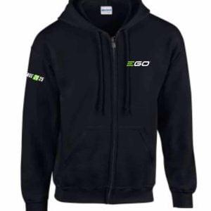 EGO Powerplus Gildan GD58 Zip Hoodie Front