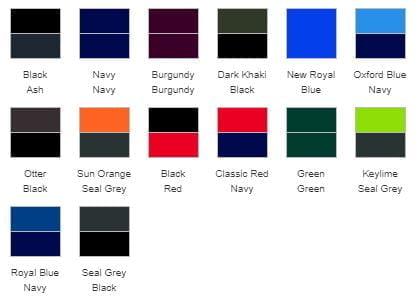 RG045 Waterproof Jacket Colours