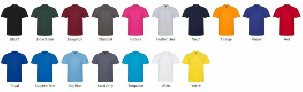 RX101 Polo Shirt Colours