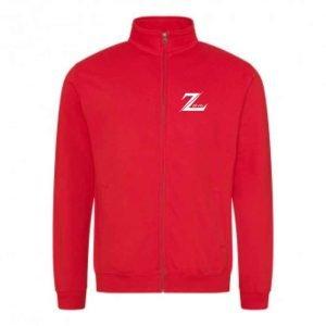 Zalva JH047 Zip Sweat Red Front